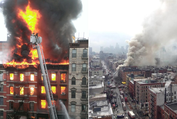 New York buildings collapse after explosion in Manhattan