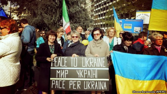 Peace to Ukraine march held in Milan, Italy. (PHOTO)