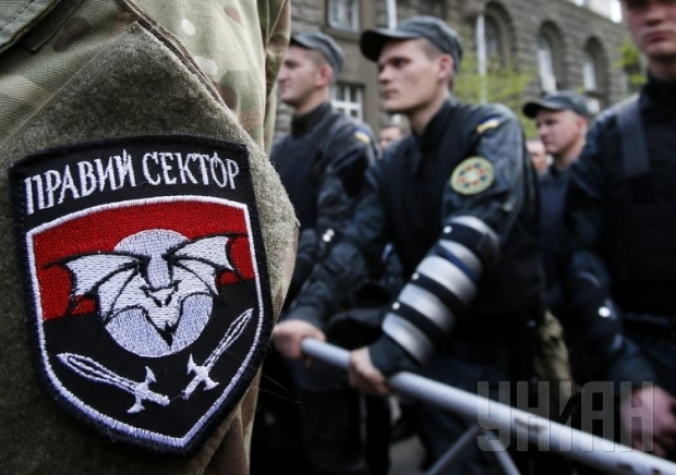 Explosion hits Right Sector's office in Sumy, killing one fighter