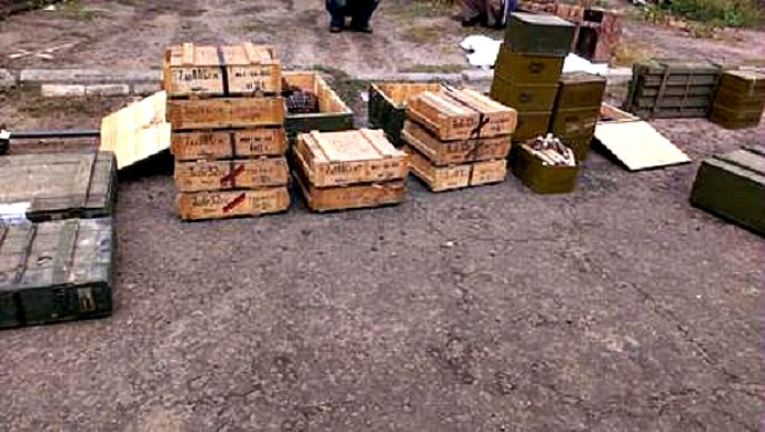 Huge arms cache discovered in Luhansk region