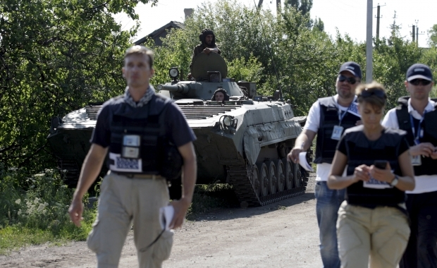 OSCE sees 43 Grads in LPR-held areas behind withdrawal lines