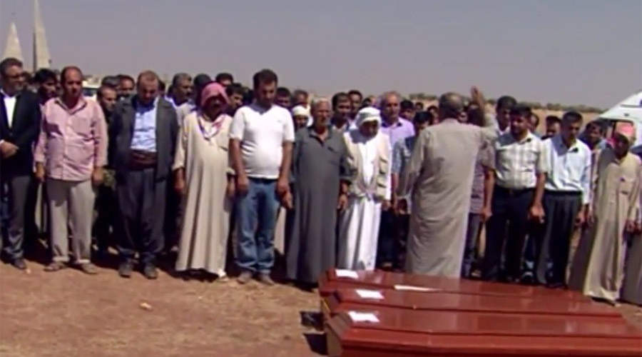 'I blame myself': Father of drowned kids lays family to rest at home Kobani (VIDEO)