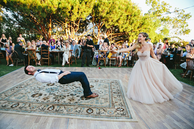 Bride Puts A Spell On Her Magician Groom During Their First Dance