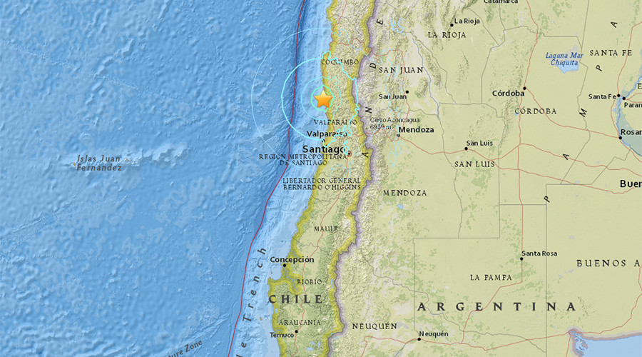 Magnitude 6.5 quake hits off Chile, buildings shaking in Santiago