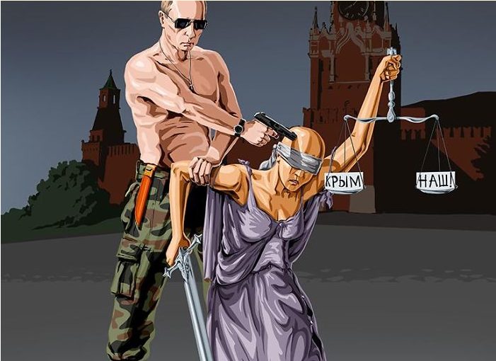 Satirical Illustrations Reveal How World Leaders See Justice (photo)