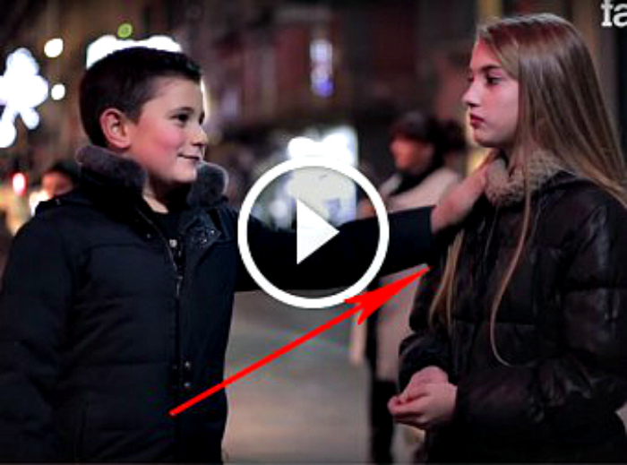 """Slap her»: children's reactions (Video)"