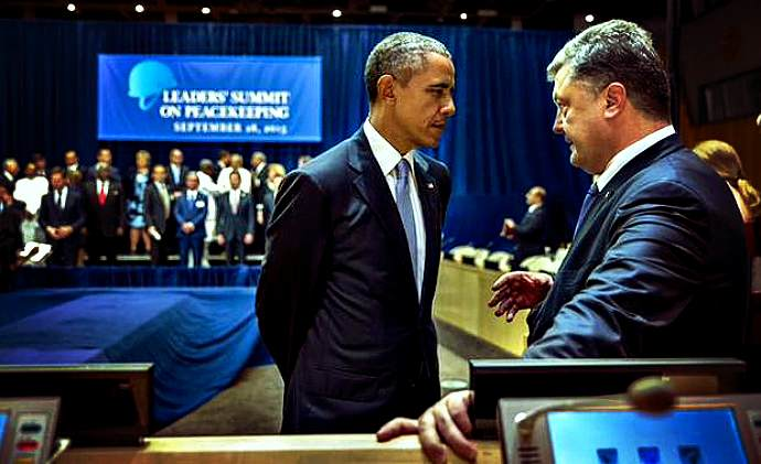Poroshenko and Obama hold unscheduled, serious conversation