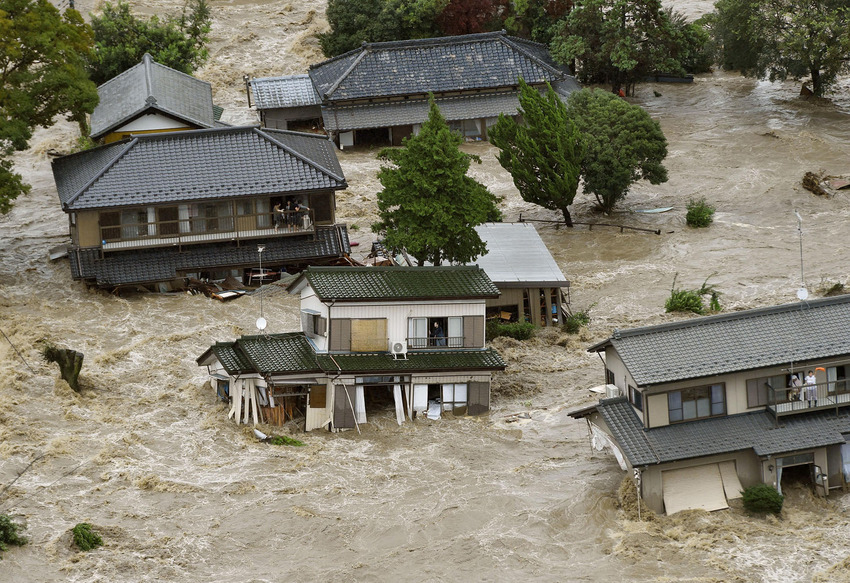 Torrential rain causes floods, landslides in eastern Japan