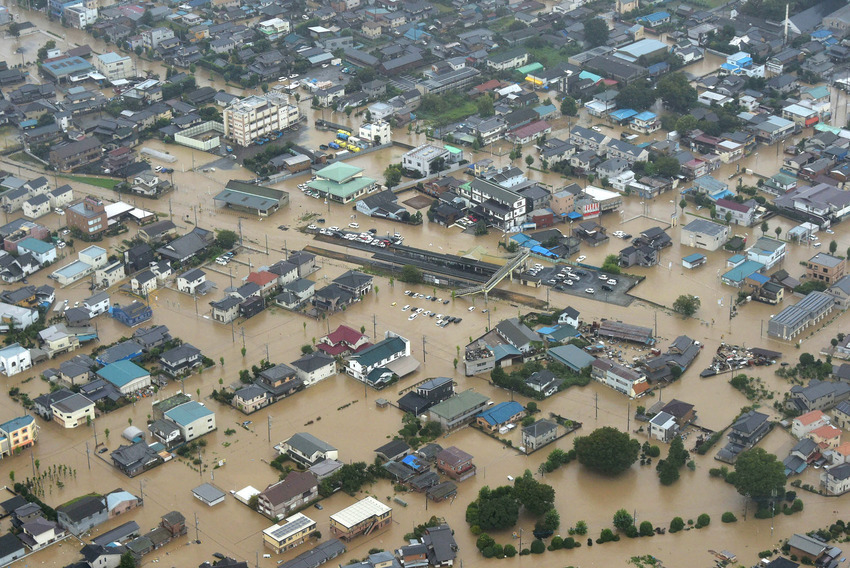 Typhoon Etau causes severe flooding
