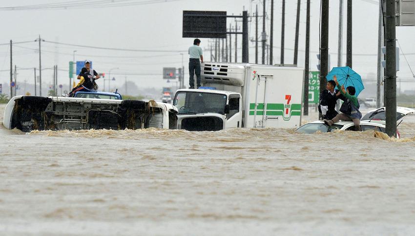 APTOPIX Japan Asia Storm