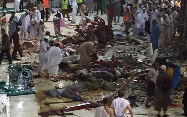 107 dead after crane collapses at world's holiest mosque in Mecca (Video)
