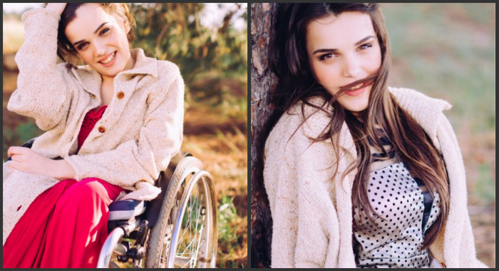 Ukrainian model in wheelchair shows «how to break the chains» (photos)