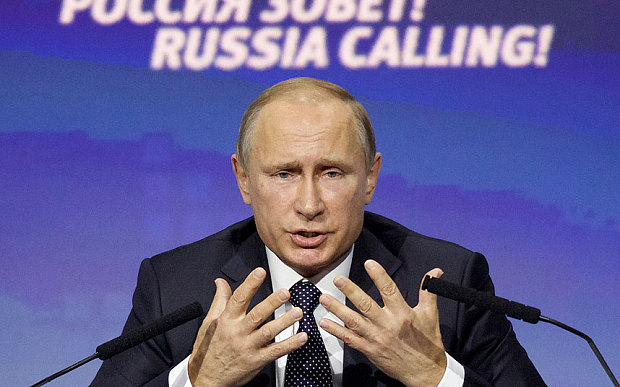 Vladimir Putin condemns US for refusing to share Syria terror targets
