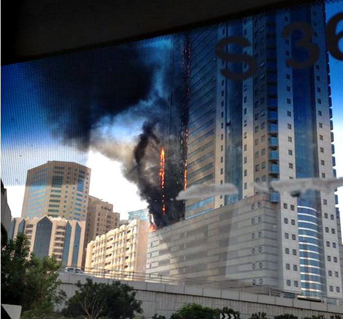 Massive fire in Sharjah high-rise, UAE (PHOTOS, VIDEO)