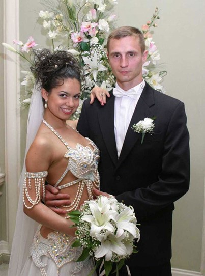 most revealing wedding dresses ever  photo