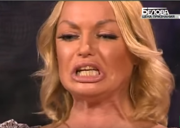 Drunk Anastasia Volochkova made a scandal during a TV show (VIDEO)