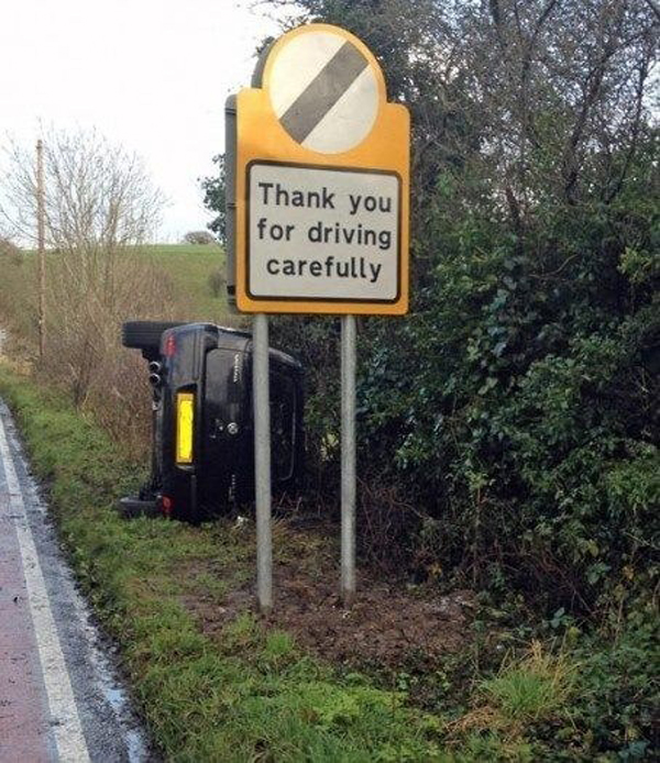 Here Are The 31 Best Incidents Of Irony Ever Photographed. #9 Must Be Some Kind Of Cruel Joke