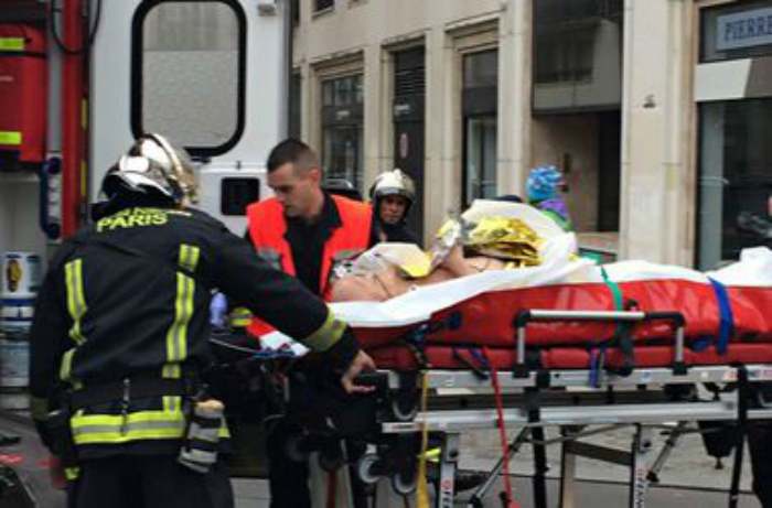 FIRST PICTURE OF ISIS TERRORIST SHOT DEAD IN PARIS AS HE STORMED A POLICE STATION
