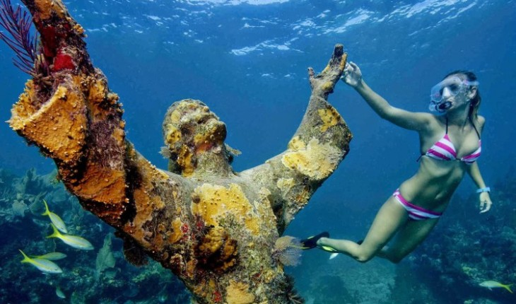 Underwater sculpture world atlantic museum set open for Spain underwater museum