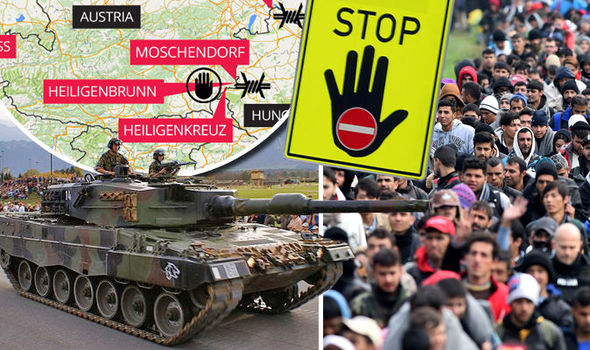 Shock map shows Schengen FAILURE as army tanks scramble to migrant borders