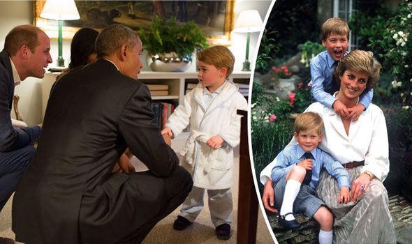 Princess Diana looks over Prince George in new photos of Kate and William's living room
