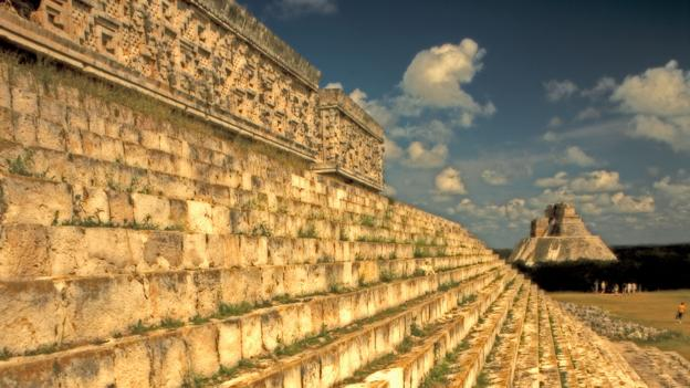AX3A3A Uxmal Maya Ruins Yucatan Mexico Pyramide Palace of the Governor. Image shot 2011. Exact date unknown.