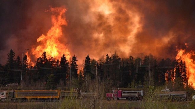 In pictures: Mass evacuation of Fort McMurray