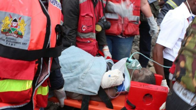 Survivor freed from Nairobi rubble six days after collapse