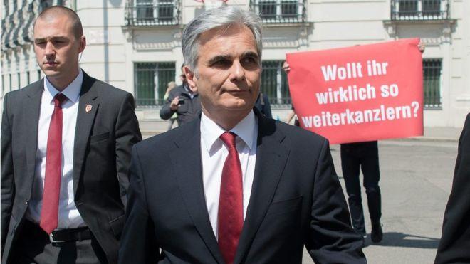Shock as Austrian Chancellor Faymann quits