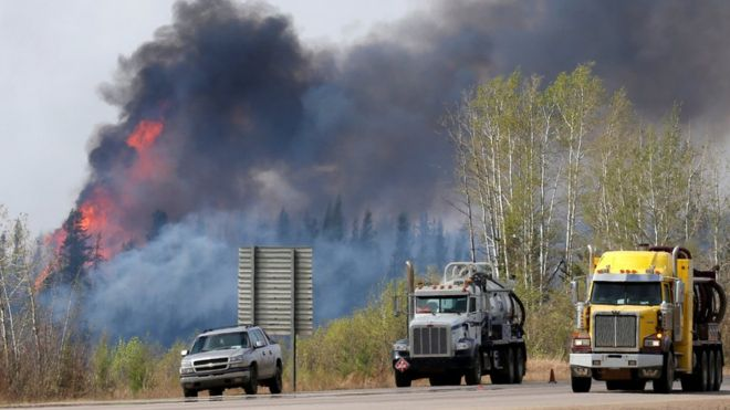 Canada wildfires: Hopes raised in battle to contain blaze