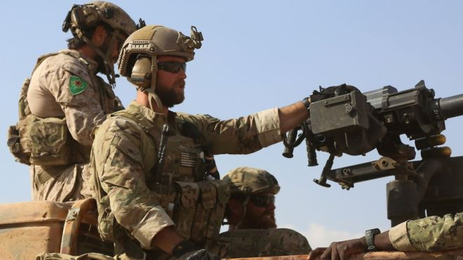 Syria war: Turkey anger over US commando photos