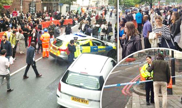 London bus BOMB SCARE sparks mass evacuation of road and Tube station