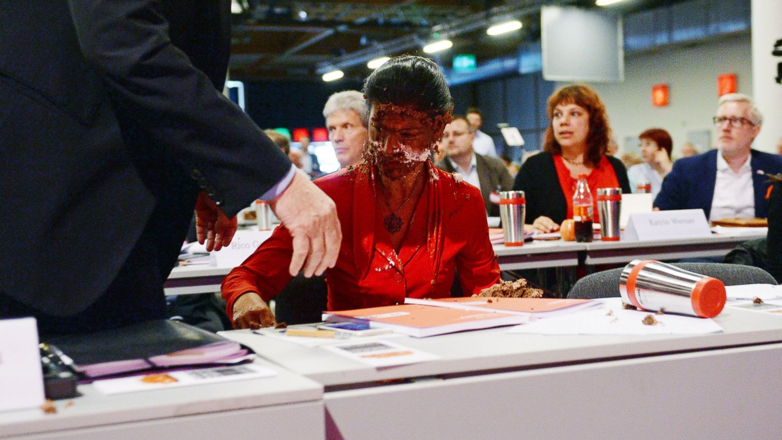 German Opposition Leader Attacked With Cake Over Migrants