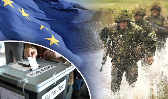 Brexit bombshell: QUARTER of UK troops will miss vote as Ukip says soldiers are 'gagged'