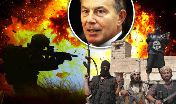 Tony Blair calls for 'proper ground war' against ISIS