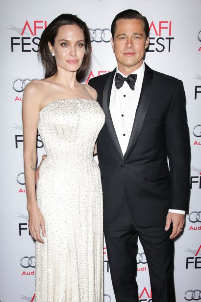 Angelina Jolie and Brad Pitt arrive at the 2015 AFI Fest opening night premiere of 'By The Sea' on Thursday, Nov. 5, 2015, in Los Angeles. Pictured: Angelina Jolie, Brad Pitt Ref: SPL1171389  051115   Picture by: Splash News Splash News and Pictures Los Angeles:310-821-2666 New York:212-619-2666 London:870-934-2666 photodesk@splashnews.com