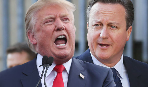 Donald Trump on Cameron: 'we are not going to have a very good relationship'