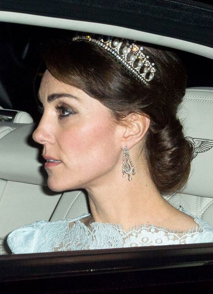Mandatory Credit: Photo by Tim Rooke/REX Shutterstock (5489891g) Catherine Duchess of Cambridge Diplomatic reception at Buckingham Palace, London, Britain - 08 Dec 2015
