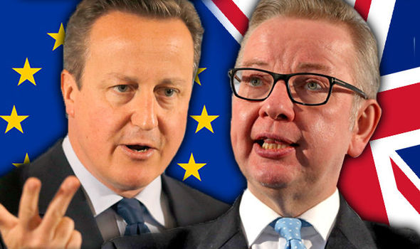 Now Cameron AVOIDS 'blue-on-blue' EU clash with Gove after agreeing separate BBC slots