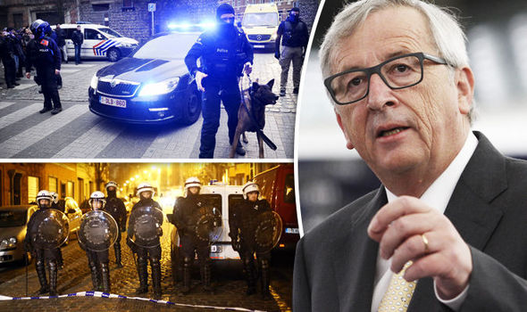 EU POWER GRAB: Terrifying Brussels plot to replace OUR police and judges with Euro stooges