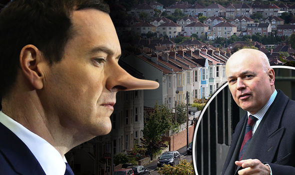 TORIES CLASH OVER EU: Don't believe Osborne's Pinocchio lies on housing crash, says IDS