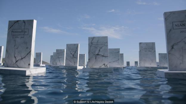The haunting image of the «sea cemetery»