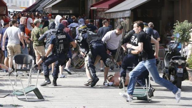 Euro 2016: Violence mars England match build-up