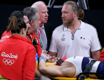 Rio 2016: Gymnast Samir Ait Said breaks leg during Olympic vault