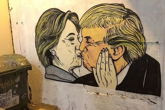 На улицах США появились граффити обнаженных звезд