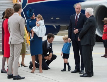 Prince George and Princess Charlotte steal the limelight as royals land in Canada