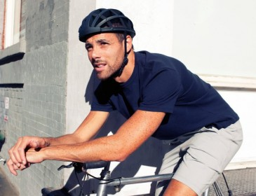 This latest collapsible bike helmet folds down to one third of its original size