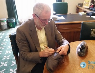 People are bidding more than £500 for Jeremy Corbyn's old shoes