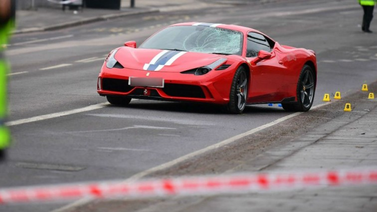 Person thrown off bridge and five injured after Ferrari 'mounts pavement and hits them'