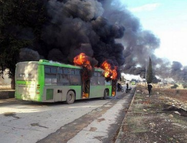 Evacuations from Aleppo 'postponed until further notice'